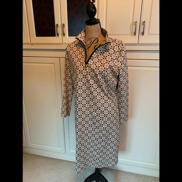 J. McLaughlin size XL dress brown and black.
